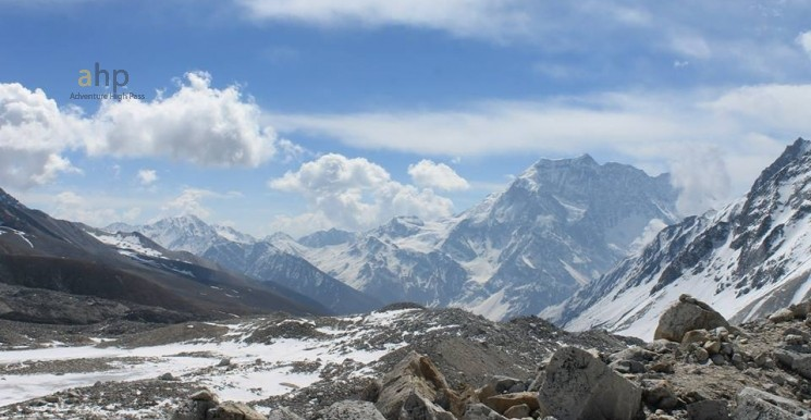 view of everest range from base camp