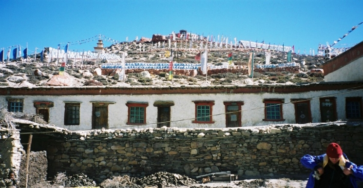 Colorful Monastry in Mountain, Nepal
