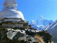 Mt. Ammadablam and Chorten